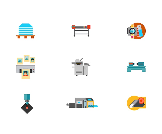 Printshop icon set