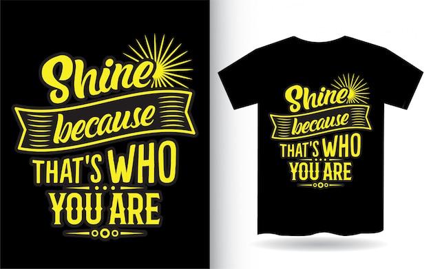 Tシャツの優先レタリングデザイン