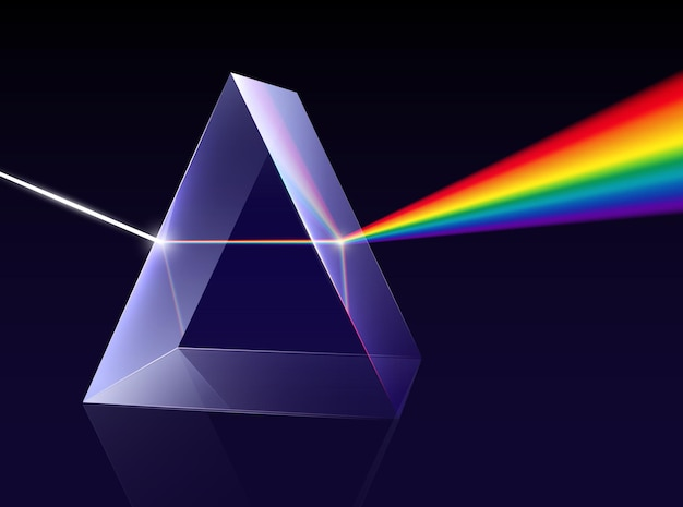 Prism light spectrum illustration