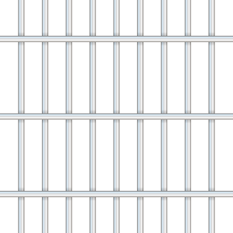 Prison bars isolated on transparent. way out to freedom .  illustration.