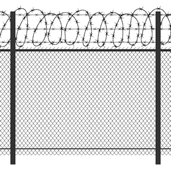 Prison privacy metal fence