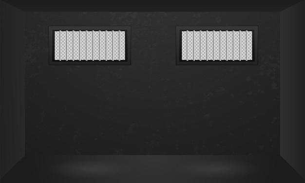 Окно тюремной комнаты с решеткой