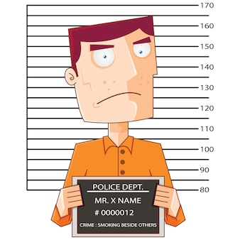 Prisoner number twelve with police data board