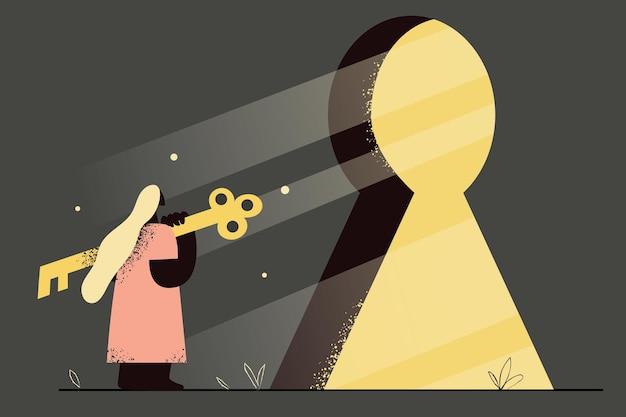 プライバシー、機会、新しい人生の概念に入る
