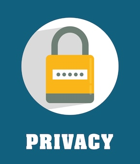 Privacy and security system graphic icons