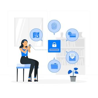 Иллюстрация концепции частных данных