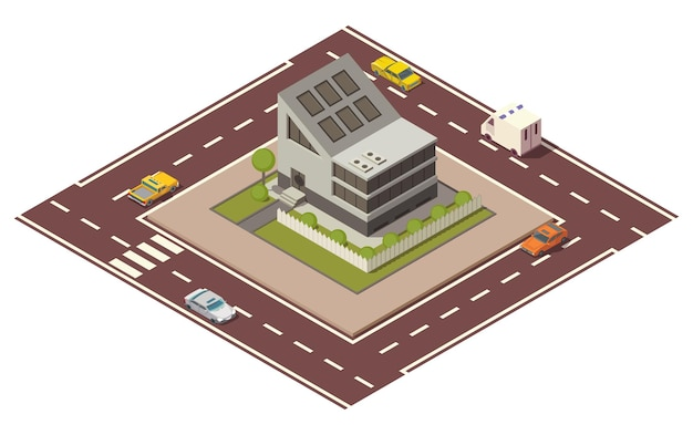 Of private real estate in isometric view