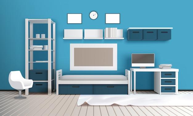 Private room realistic interior