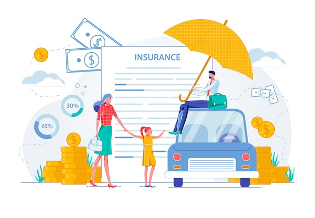 Private vehicle contract family insurance banner.