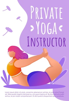 Private yoga instructor template. fitness class.