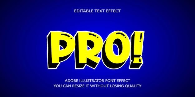 Pro editable text effect