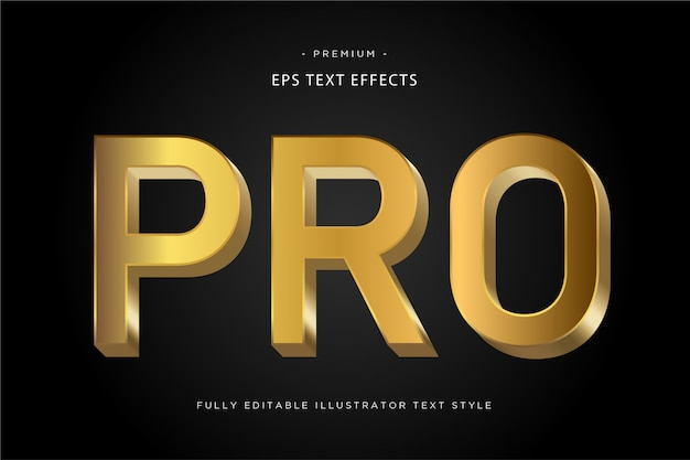 Pro gold text style