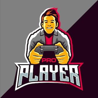 プロプレーヤーのeスポーツゲームのロゴデザイン