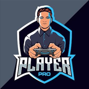 プロプレイヤーeスポーツゲームのロゴデザイン