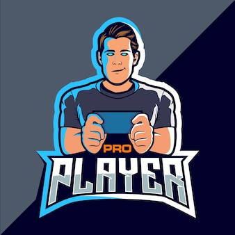 Pro player esport game logo design