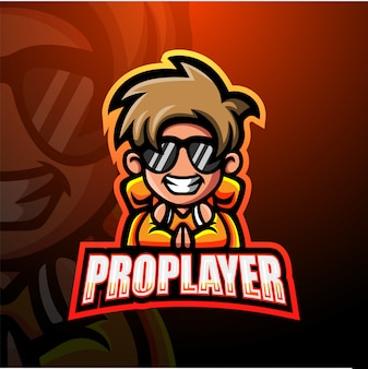 Pro player mascot esport illustration