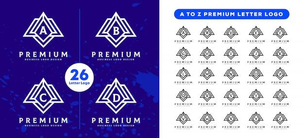 Pro tech от a до z урожай письмо дизайн логотипа