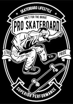 Pro скейтборд плакат