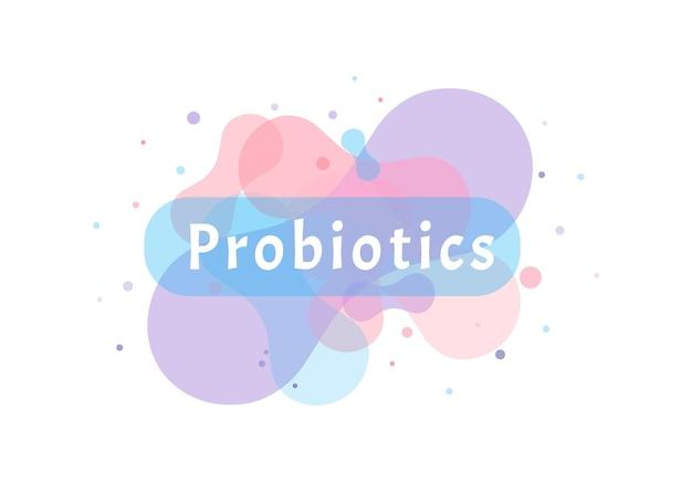 プロバイオティクス細菌のロゴシンプルなフラットスタイルのモダンなロゴタイプのグラフィックデザイン、プレバイオティクス乳酸菌