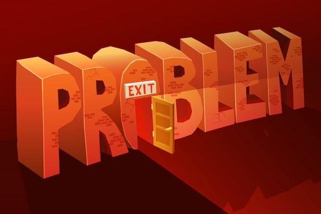 Problem exit illustration