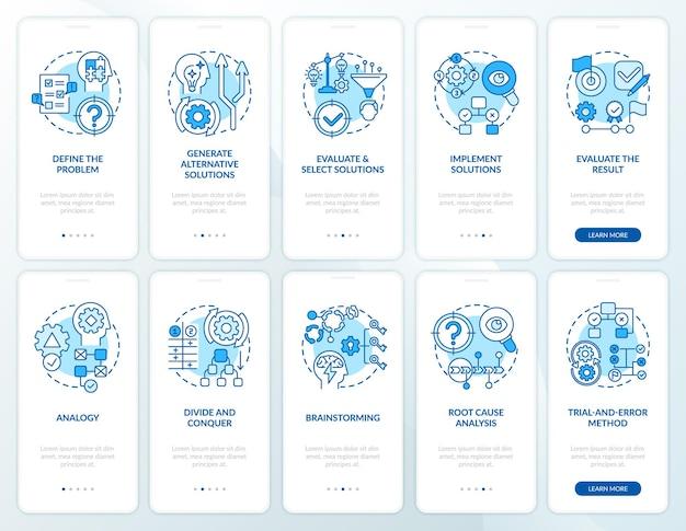 Решение проблем с синим экраном страницы мобильного приложения с набором концепций