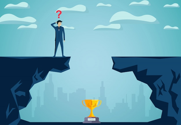 Problem solving concepts and finding solutions go to the ultimate business success goal
