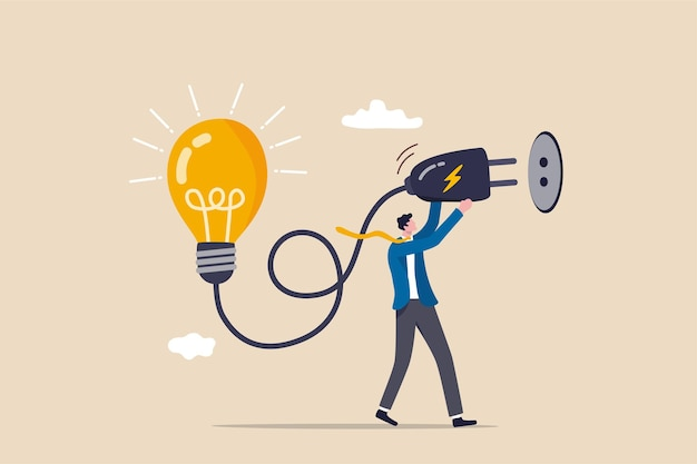 Идея решения проблем, изобретайте новую инновационную концепцию.