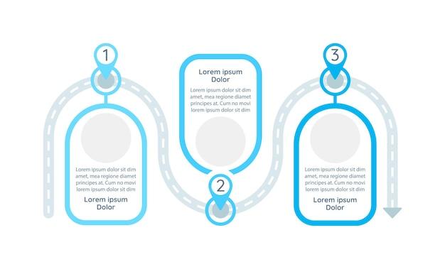 Шаблон инфографики процесса решения проблем