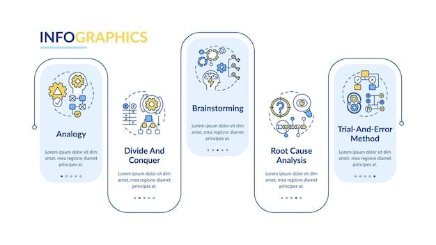 Problem solving tactics infographic template