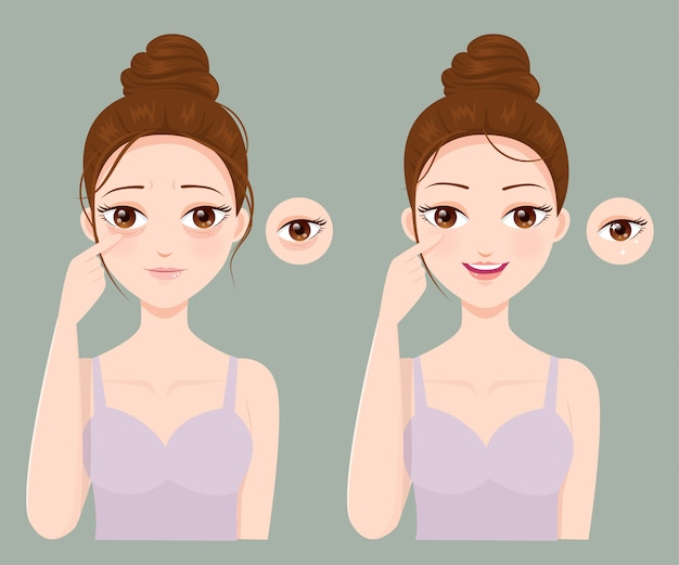 Проблемы морщин и черных глаз
