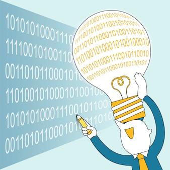 프로세스 코딩 개념: 선 스타일로 프로그램을 작성하는 사업가