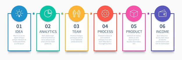 Process columns infographic. business steps chart, workflow layout diagram and way from idea to income  presentation