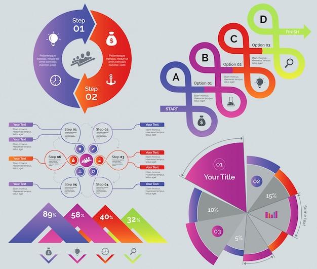 Process and comparison diagrams set
