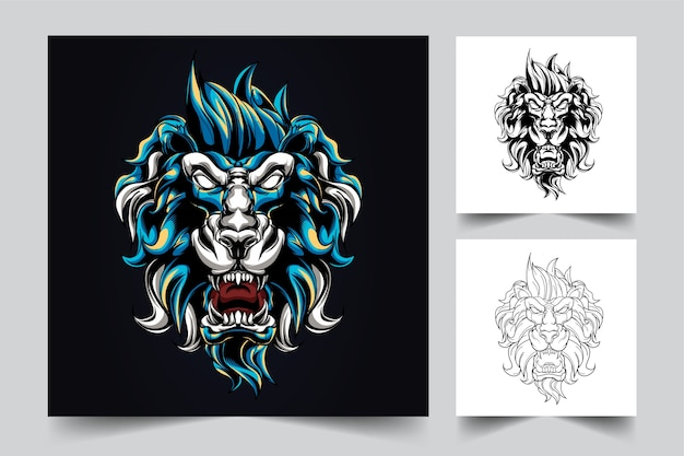 The process of creating a angry mythical lion