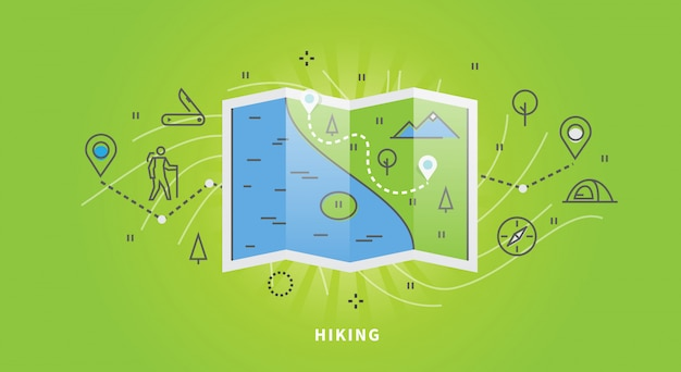 Process of hiking