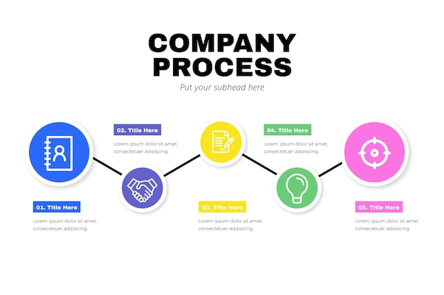 Process infographic in flat design