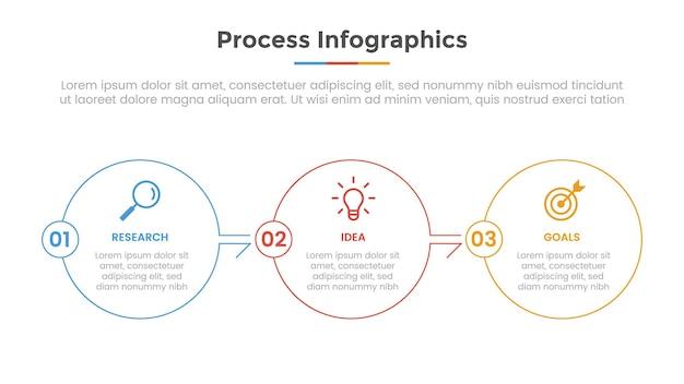 프레젠테이션을위한 목록 포인트와 현대적인 평면 스타일 템플릿 슬라이드로 인포 그래픽 처리