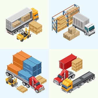 Process of loading freight trucks