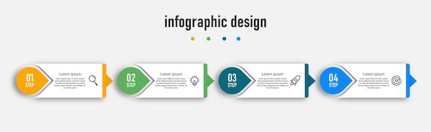 Process modern infographic template design