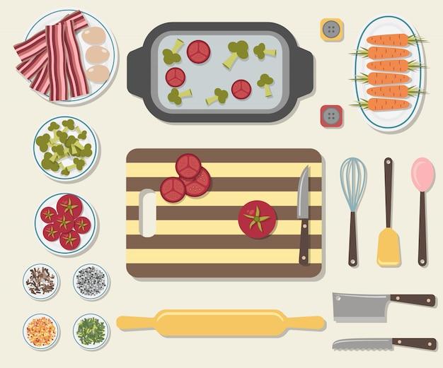 おいしい食べ物を調理するプロセス