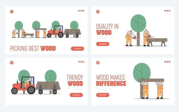 伐採、輸送の木のプロセス。