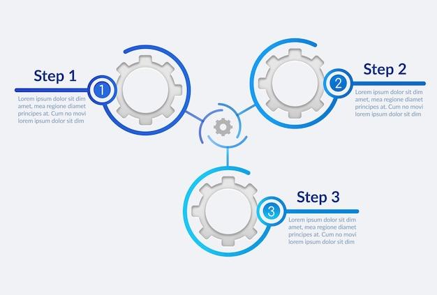 Инфографический шаблон оптимизации процесса