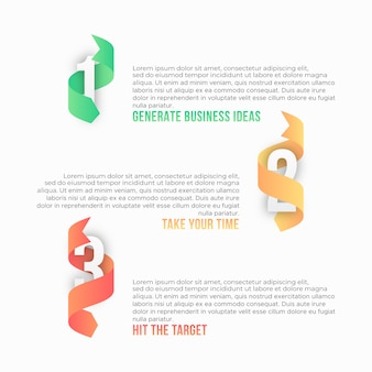 Process step infographic template