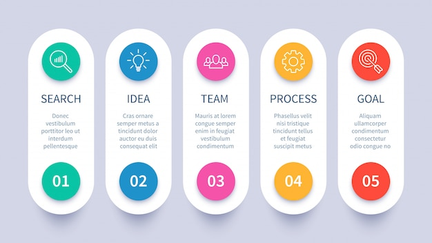 Process steps infographic chart, business strategy layout, workflow timeline and startup plan diagram  presentation template