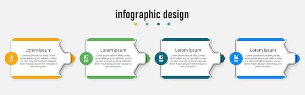 Шаги процесса современный инфографический дизайн шаблона