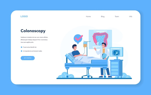 Proctologist web banner or landing page