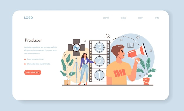 Producer web banner or landing page