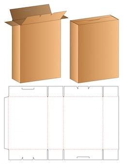 Product box packaging die cut template