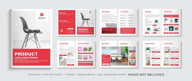 Product catalog design template layout or company product catalogue design template