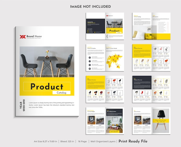 Product catalogue design template